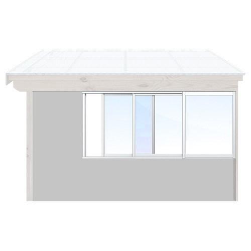 Isomax Skjutbart fönsterparti Vit 330 cm – 3 luckor Nej