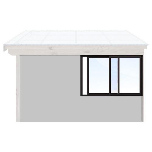 Isomax Skjutbart fönsterparti Svart 155 cm – 2 luckor Nej