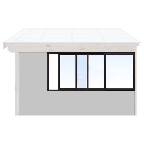 Isomax Skjutbart fönsterparti Svart 250 cm – 3 luckor Ja