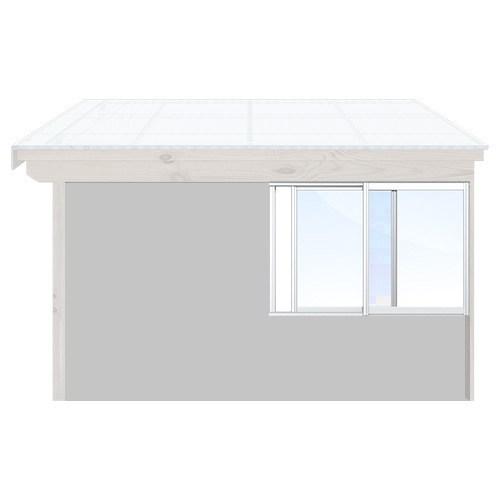 Isomax Skjutbart fönsterparti Vit 185 cm – 2 luckor Ja