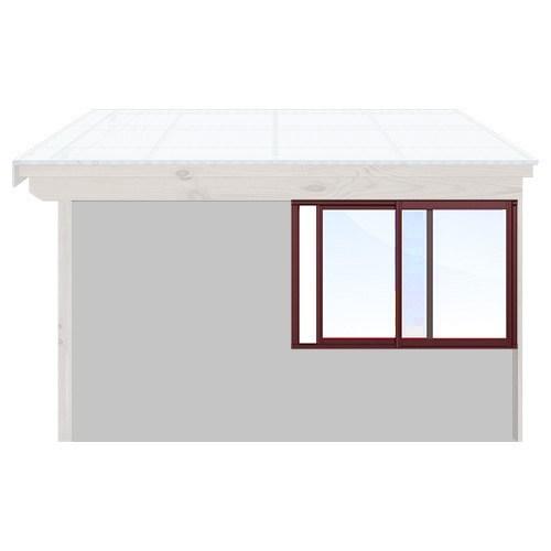 Isomax Skjutbart fönsterparti Vinröd 195 cm – 2 luckor Nej