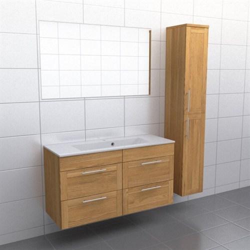 Källa Ek ram Vila 120 cm center Spegel Ja + 30 cm