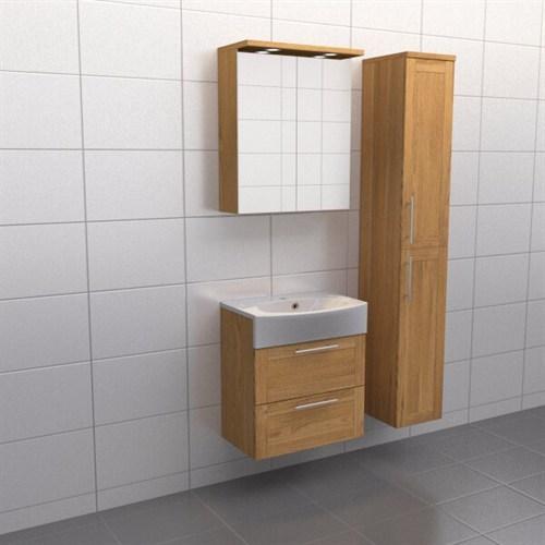 Källa Ek ram Spegelskåp Ja + 30 cm