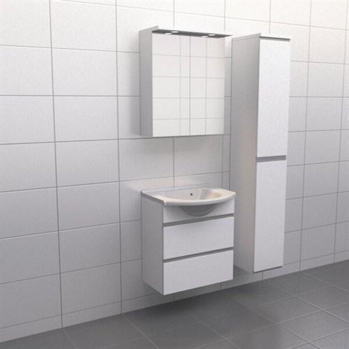 Källa Vit med aluminiumgrepp Frid 60 cm Spegelskåp Ja + 30 cm