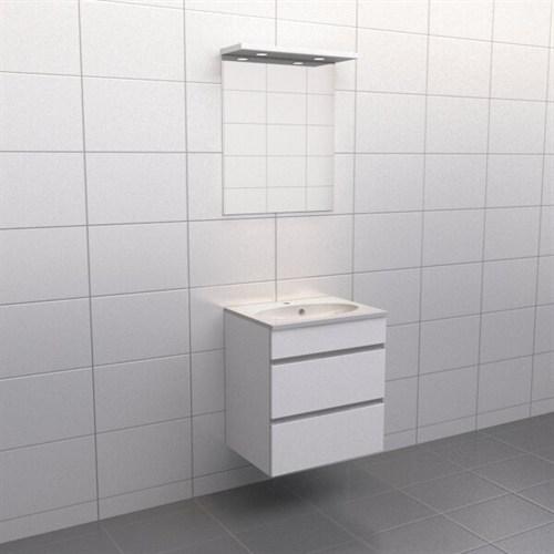 Källa Vit med aluminiumgrepp Balans 60 cm Spegelramp Nej