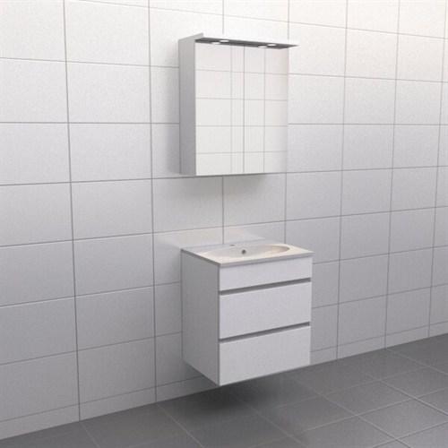 Källa Vit med aluminiumgrepp Balans 60 cm Spegelskåp Nej