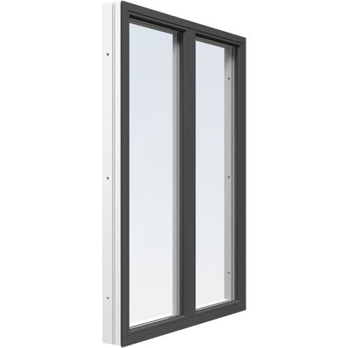 Fast fönster med mittpost Energi Premium Antracitgrå, 10, 8