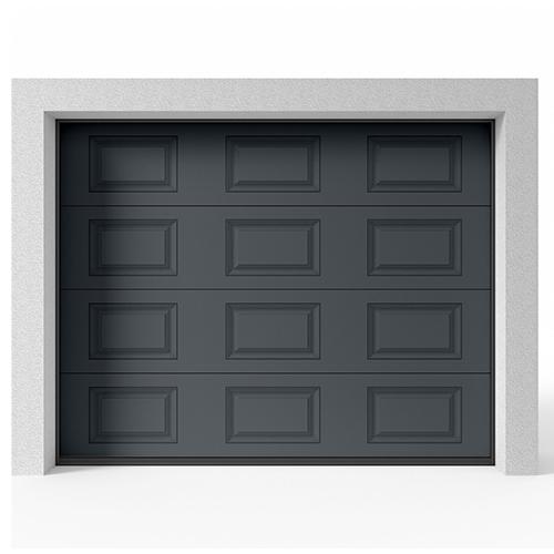 Garageport Takskjutport Modern Spegel Antracit, 2400x2000