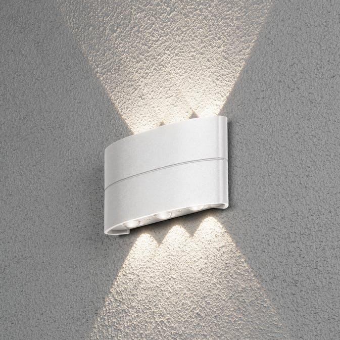 8W LED Konstsmide Chieri vägglykta Vit