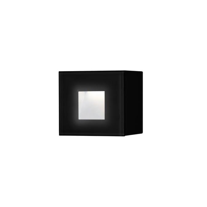 1,5W LED kvadrat Konstsmide Chieri vägglykta Svart