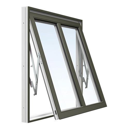 Vridfönster med mittpost Energi Aluminium Olivgrön, 12, 9