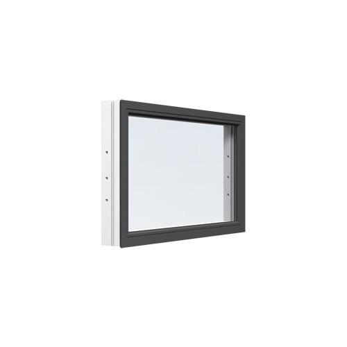 Fast fönster Energi Aluminium 4, 21, Antracitgrå