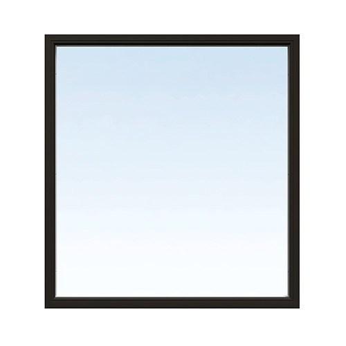 Fast fönster Energi Aluminium 10, 24, Svart