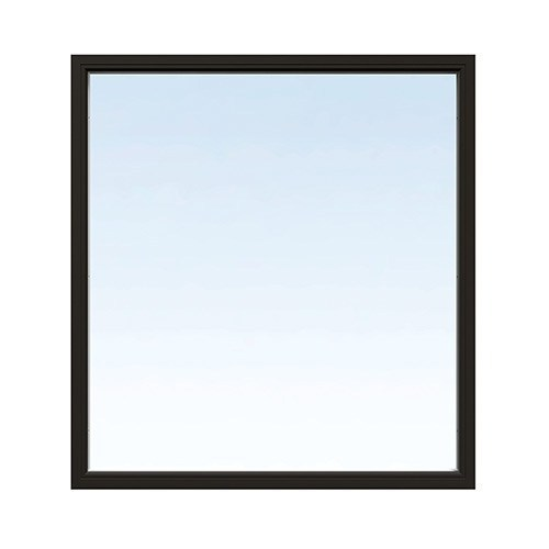 Fast fönster Energi Aluminium 11, 17, Svart