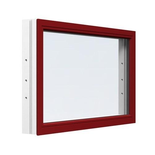 Fast fönster Energi Aluminium 4, 16, Brunröd
