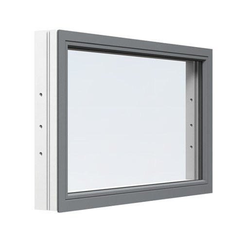 Fast fönster Energi Aluminium 14, 4, Askgrå