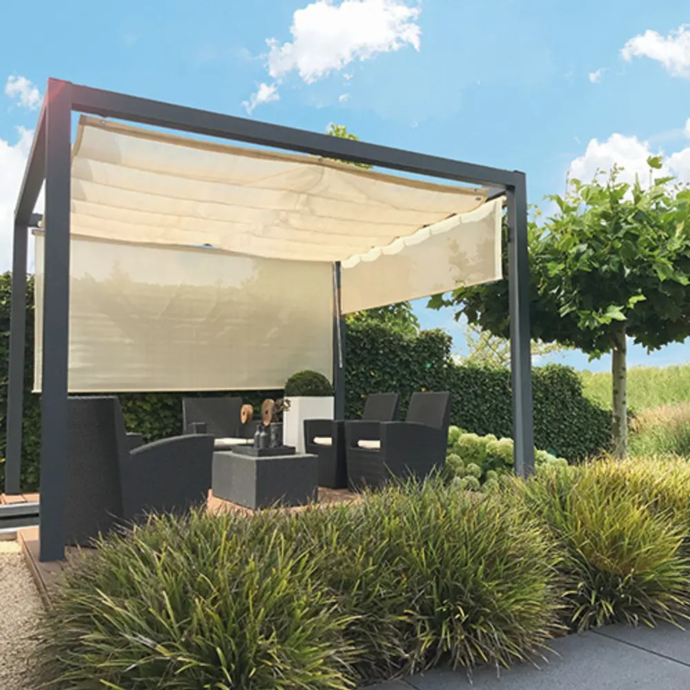 Antracit 1980 mm Sidogardin pergola