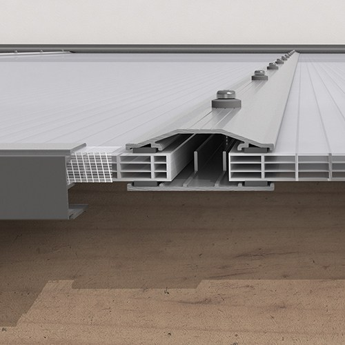 Kanalplasttak för uterum Kanalplast tak 10 mm 3500 mm, 6470 mm, 3500 mm