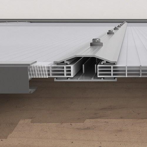 Kanalplasttak för uterum Kanalplast tak 10 mm 4000 mm, 4000 mm, 2190 mm