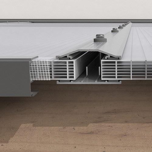 Kanalplasttak för uterum 16 mm Kanalplast tak 16 mm 3500 mm, 6470 mm