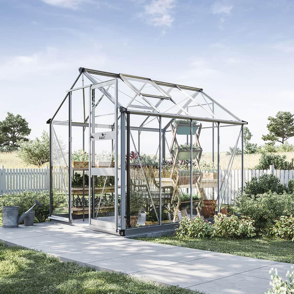 Växthus Odla 4,9 m², Aluminium, Säkerhetsglas thumbnail