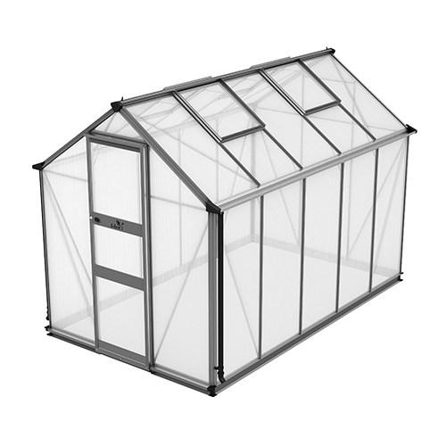 Växthus Odla 6,0 m², Aluminium, Kanalplast thumbnail