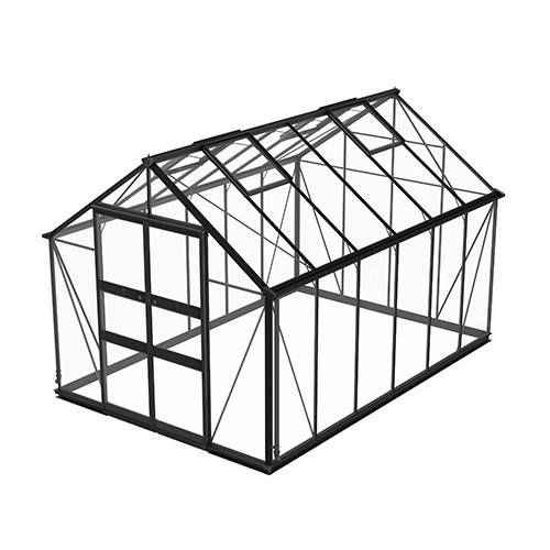 Växthus Odla 9,8 m², Svart, Säkerhetsglas thumbnail