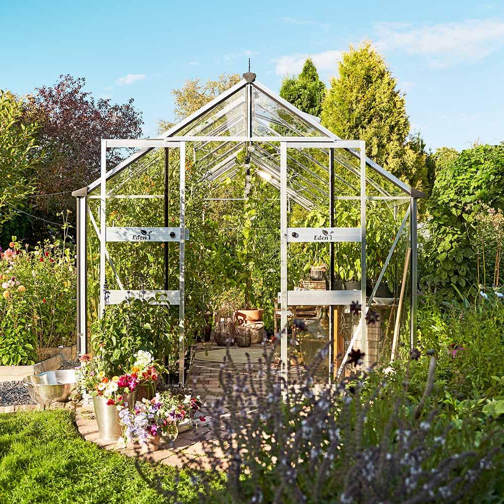 Växthus Odla 11,4 m², Aluminium, Säkerhetsglas thumbnail