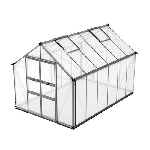 Växthus Odla 9,8 m², Aluminium, Kanalplast thumbnail