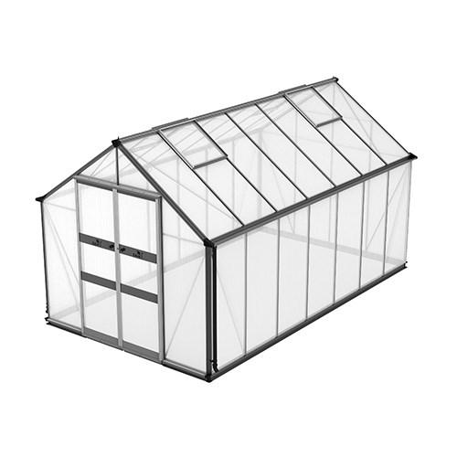 Växthus Odla 11,4 m², Aluminium, Kanalplast thumbnail