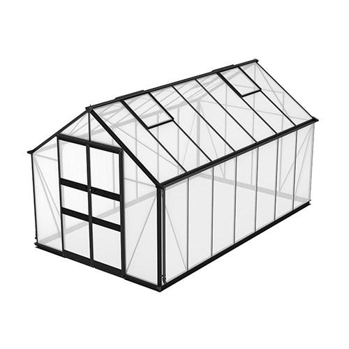Växthus Odla 11,4 m², Svart, Kanalplast thumbnail