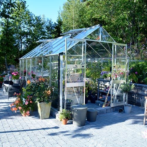 Växthus Odla 11,4 m², Aluminium, Glas thumbnail