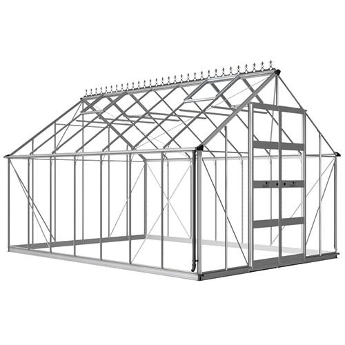 Växthus Odla 14,1 m², Aluminium, Kanalplast thumbnail