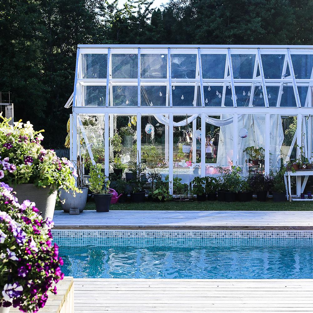 Kombinera växthus och uterum Växa 17,5 m²