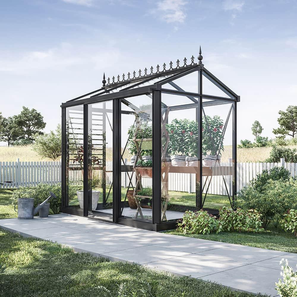 Växthus Oas Mini 3,8 m² Hobby Aluminium